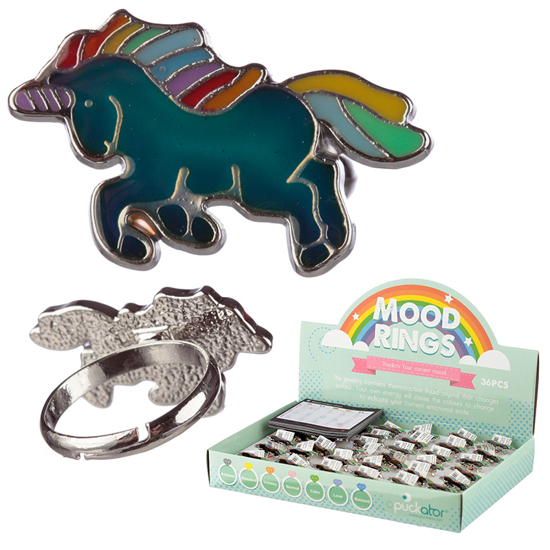 Cute Kids Unicorn Mood Rings