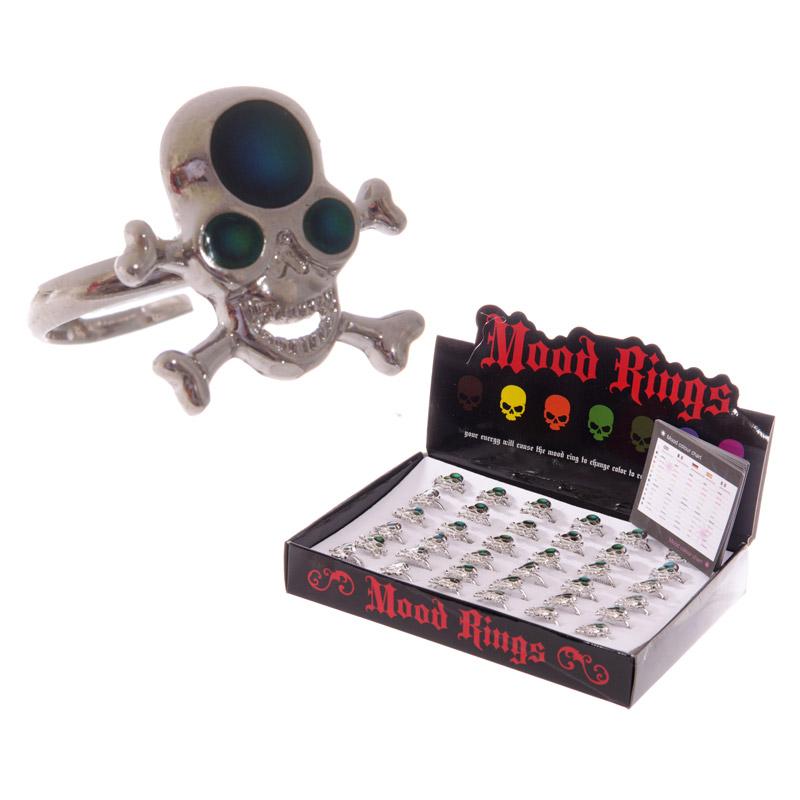 Fun Skull and Cross Bone Mood Rings