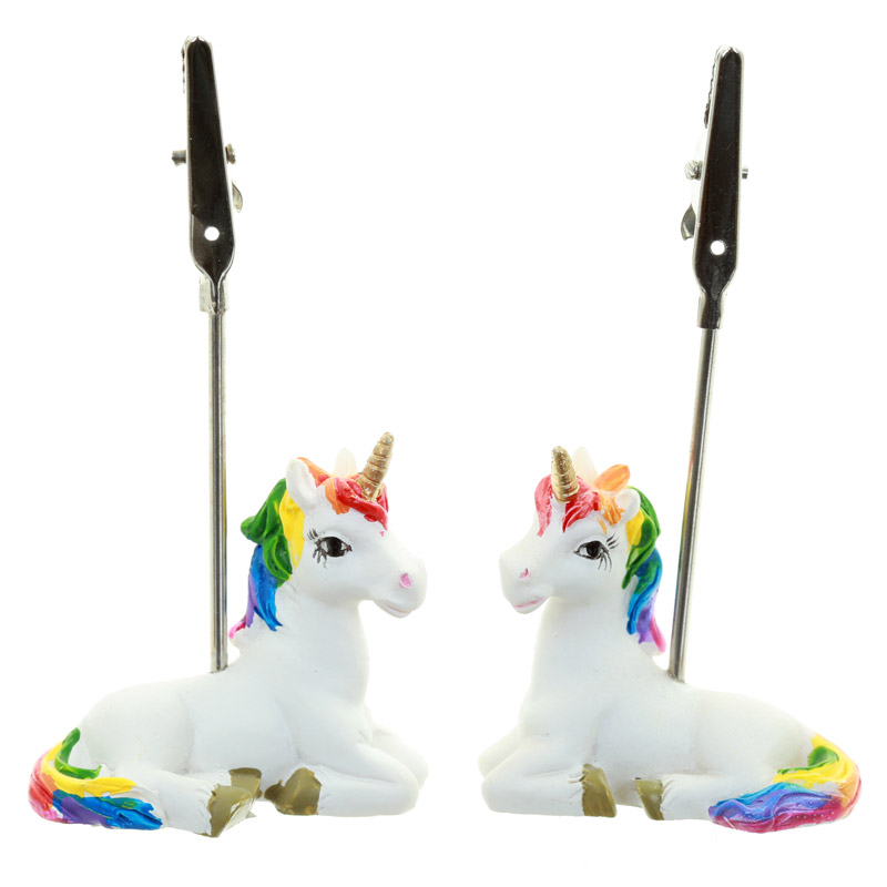 Cute Collectable Rainbow Unicorn Postcard and Memo Clip