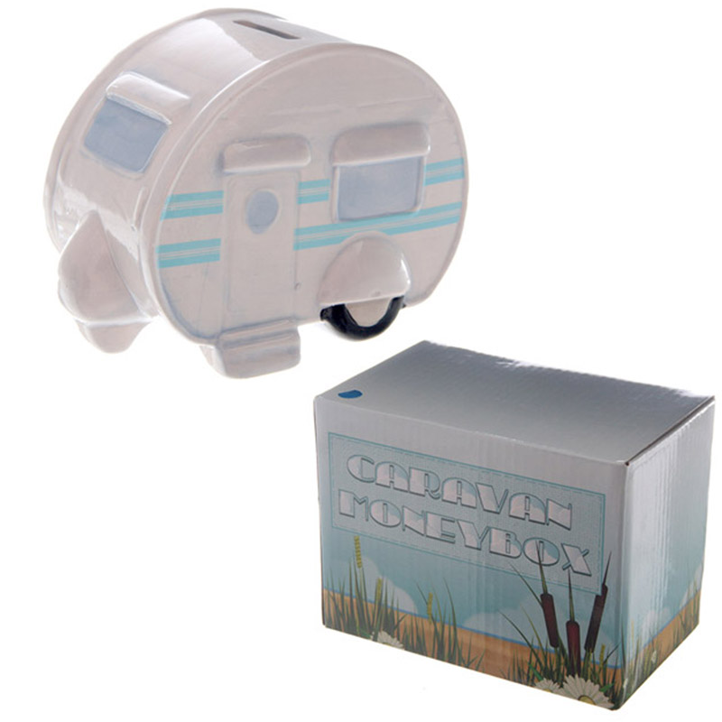 Fun Novelty Ceramic Caravan Money Box