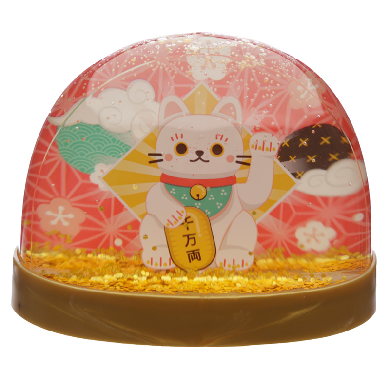 Collectable Snow Storm Lucky Cat Maneki Neko