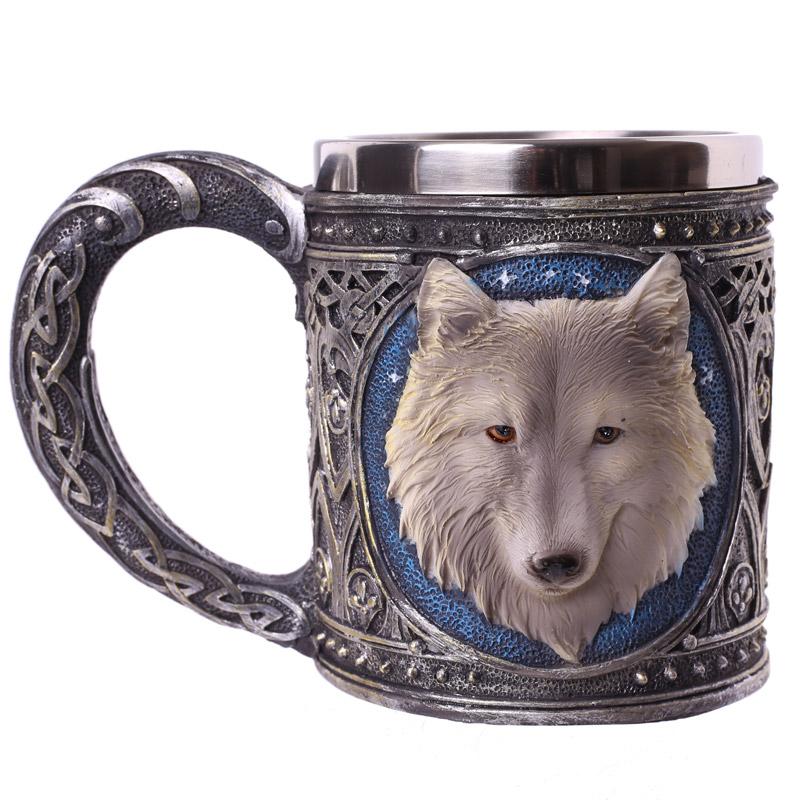 Decorative Fantasy Wolf Tankard