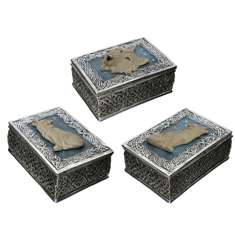 Secrets of the Wolf Protector of the North Wolf Trinket Box