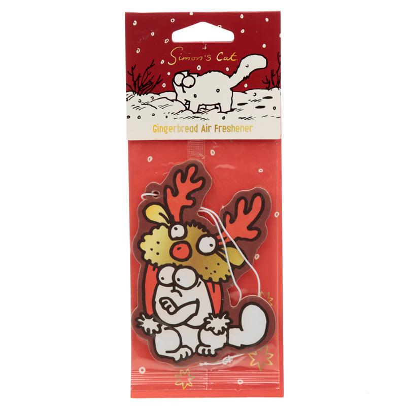 Christmas Simons Cat Reindeer Hat Gingerbread Scented Air freshener