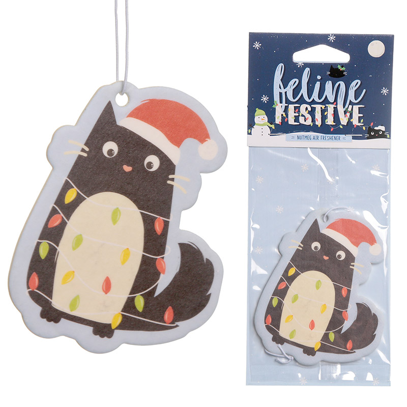 Nutmeg Scented Christmas Cat Festive Feline Air Freshener