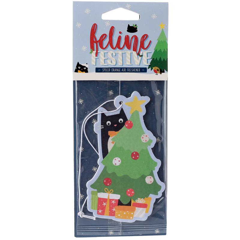 Nutmeg Scented Christmas Cat Festive Feline Air Freshener