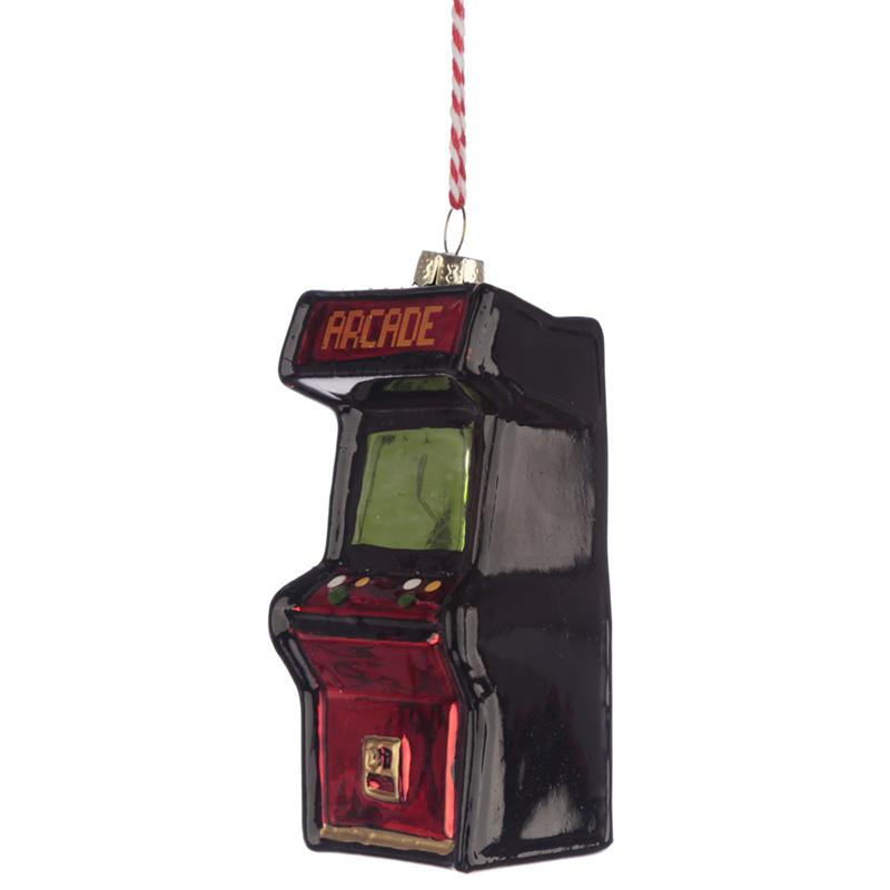 Glass Christmas Bauble Retro Gaming Game Over Arcade Game