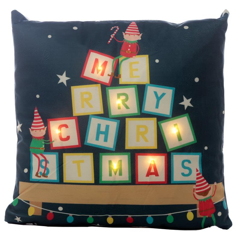 Decorative LED Cushion Christmas Elf