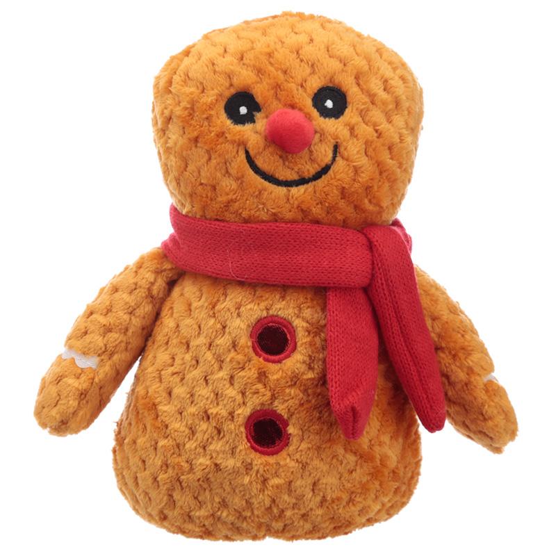 Fun Christmas Gingerbread Man Plush Door Stop