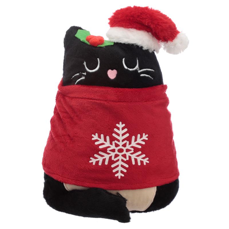Fun Christmas Feline Festive Cat Plush Door Stop