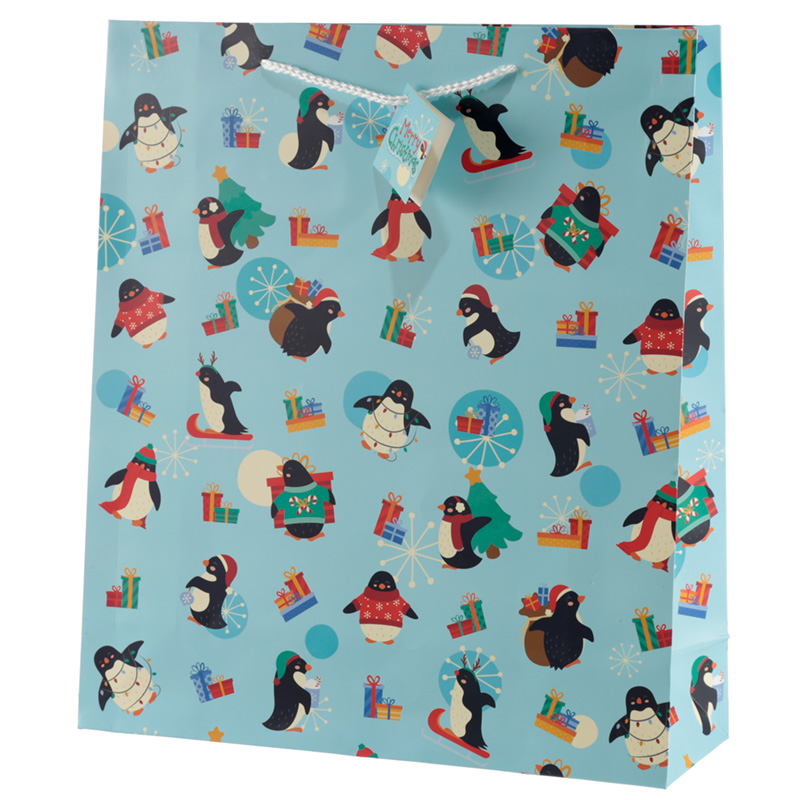 Penguins Extra Large Christmas Gift Bag