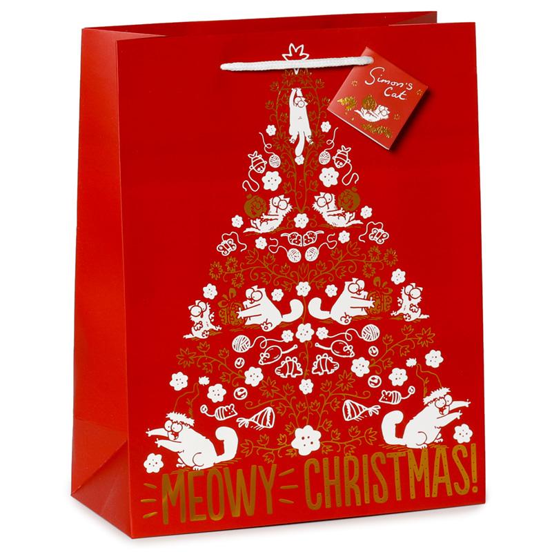 Meowy Christmas Simons Cat Large Christmas Gift Bag