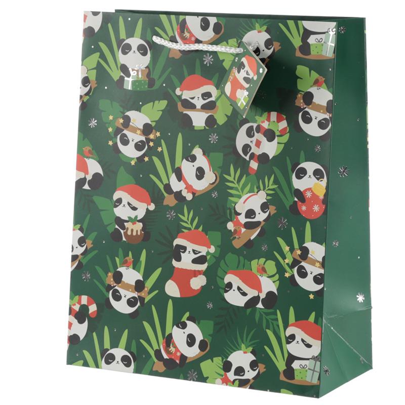 Panda Large Christmas Gift Bag