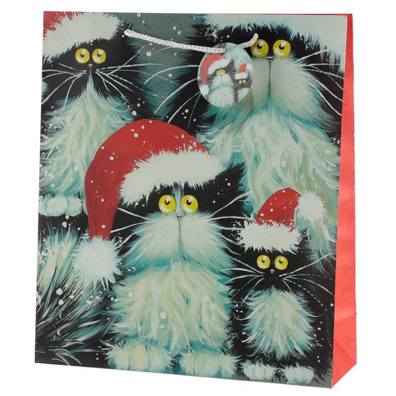 Kim Haskins Cats Design Extra Large Christmas Gift Bag