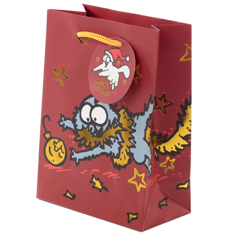 Simons Cat Christmas 2020 Medium Gift Bag