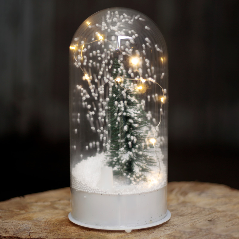 Musical LED Christmas Snowstorm Domed