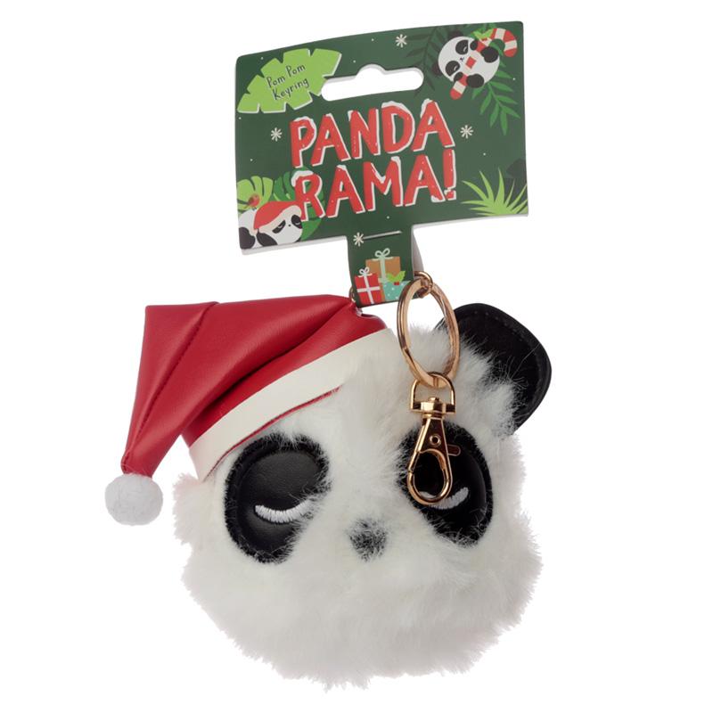 Fun Collectable Pom Pom Keyring Christmas Pandarama
