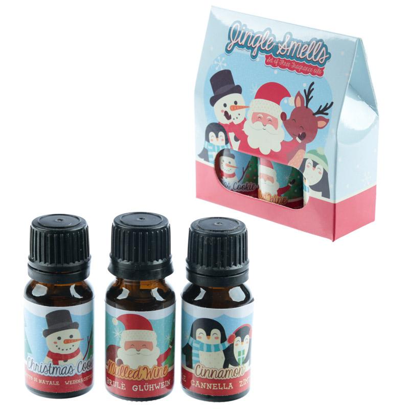 Set of 3 Eden Fragrance Oils Christmas