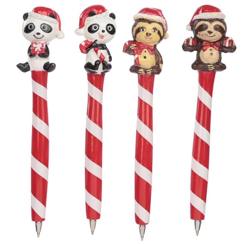 Cute Panda and Sloth Novelty Christmas Pen