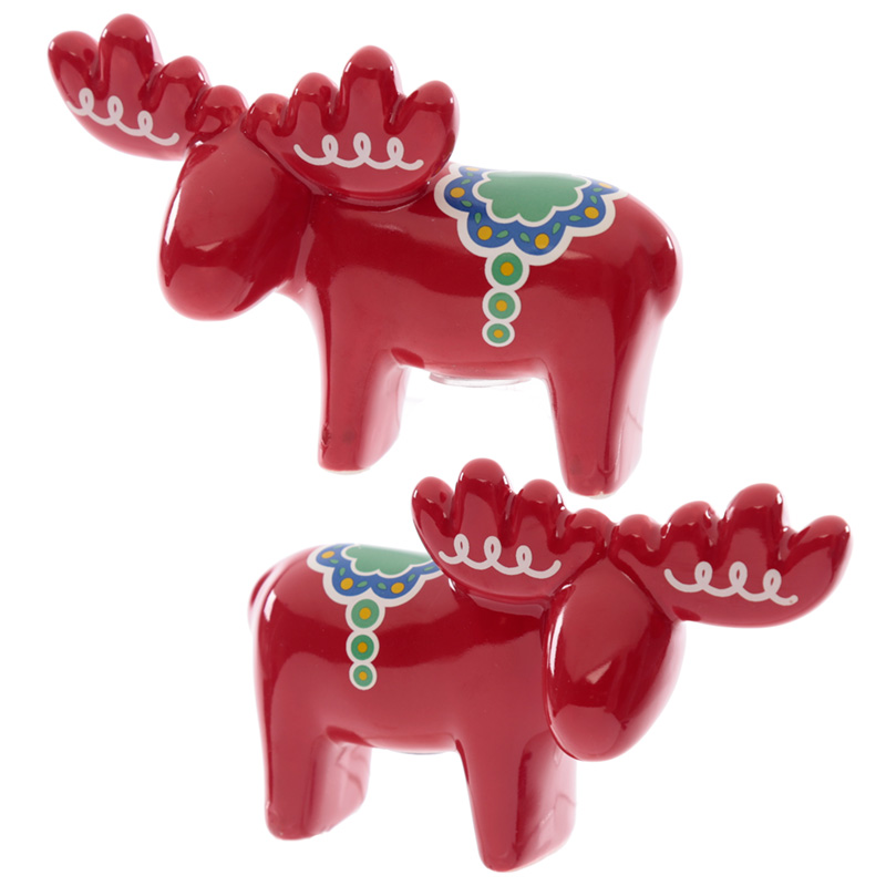 Fun Scandi Moose Salt and Pepper Set