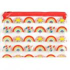 Dropship Stationery - Clear PVC Pencil Case - Somewhere Rainbow