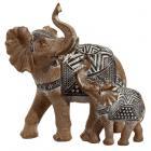 Decorative Elephant Wood Effect Figurine