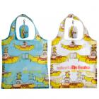 Handy Fold Up Yellow Submarine Shopping Bag with Holder