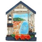 Collectable Seaside Souvenir - Beach Cabin Magnet