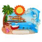 Collectable Seaside Souvenir - Dolphin Postcard Magnet