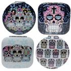 Fun Colourful Candy Skulls Day of the Dead Compact Mirror