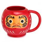 Ceramic Red Japanese Daruma Shaped Collectable Mug