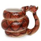 Ceramic Coiled Pyhton Snake Shaped Collectable Mug