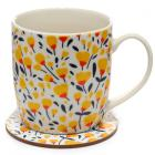 Porcelain Mug and Coaster Gift Set - Buttercup Pick of the Bunch