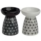 Ceramic Floral Design Ceramic Eden Oil and Tart Burner