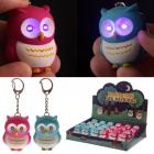 Bright Hooting Owl Novelty Key Ring with Light Up Eyes