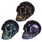 Gothic Iridescent Skull Ornament