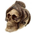 Fantasy Bronze Octopus Skull Ornament