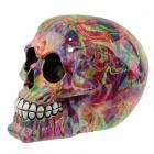 Fantasy Rainbow Marble Skull Ornament