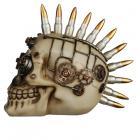 Fantasy Steampunk Skull Ornament - Bullet Mohican