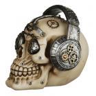 Fantasy Steampunk Skull Ornament - Headphones