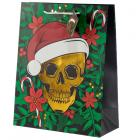 Metallic Skulls Large Christmas Gift Bag