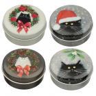 Christmas Kim Haskins Cat Lip Balm in a Tin